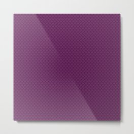 Byzantium Purple Scales Pattern Design Metal Print