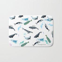 cetacean pattern Bath Mat