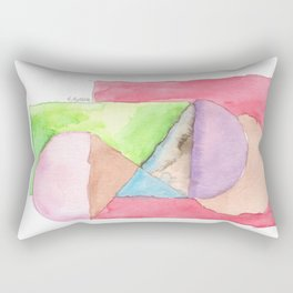180515 Fitting In 6 | Abstract Watercolors Rectangular Pillow