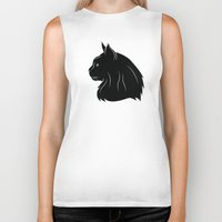 maine Biker Tanks featuring Maine Coon by Jonathan Hall
