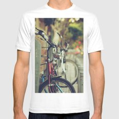 The street is quiet Mens Fitted Tee MEDIUM White