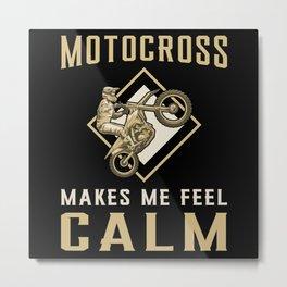Motocross Dirt Bike Biker Keep Calm Funny Gift Metal Print