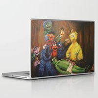 kermit Laptop & iPad Skins featuring The Anatomy Lesson of Dr. Bird by Hillary White