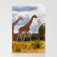 giraffes Stationery Cards featuring Giraffes by Photography by Terrance