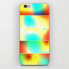 Color Heat (Five Panels Series) iPhone & iPod Skin