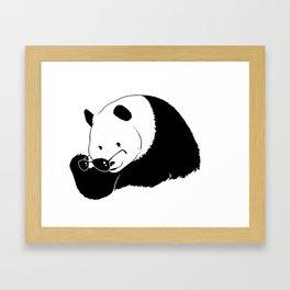 panda eyes Framed Art Print