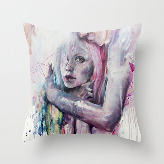 thought in metastasis Throw Pillow
