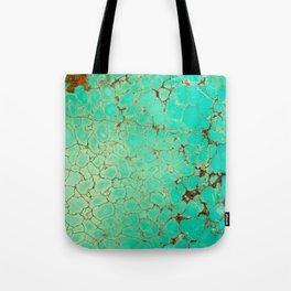 Crackeled Turquoise Stone Tote Bag