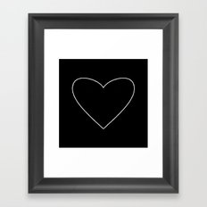 Black Heart Framed Art Print