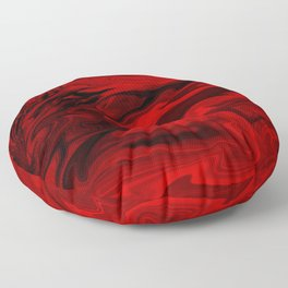 Blood Red Marble Floor Pillow
