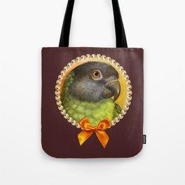 Senegal parrot realistic painting Tote Bag