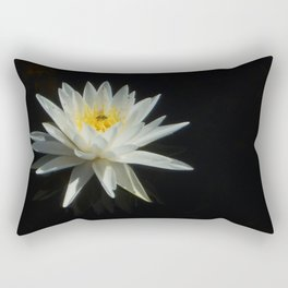 White Water Lily Visitor Rectangular Pillow