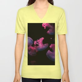 Pink Jelly Fish Unisex V-Neck