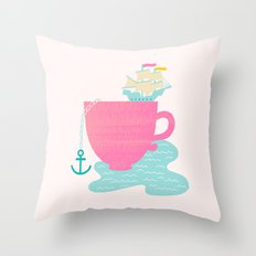 Cup of Sea Throw Pillow