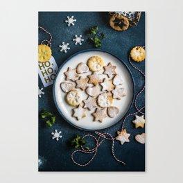 Santa's Christmas Cookies (Color) Canvas Print