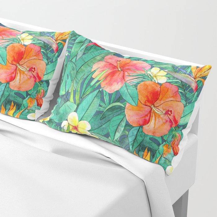 Classic Tropical Garden Pillow Sham