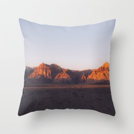 Red Rocks Canyon Nevada Desert Mountains Landscape Throw Pillow