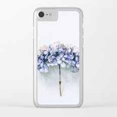 Delicate Hydrangea Clear iPhone Case