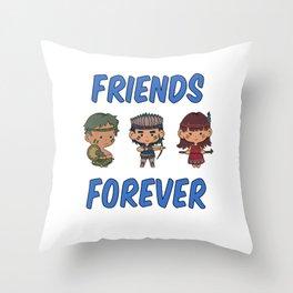 Indian boy girl Kinderfreunde gift Throw Pillow