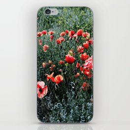 Poppies In A Field iPhone Skin