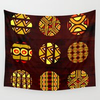 planets Wall Tapestries featuring africa planets by d.ts