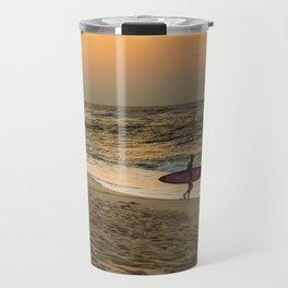 Sunset Surfer Travel Mug