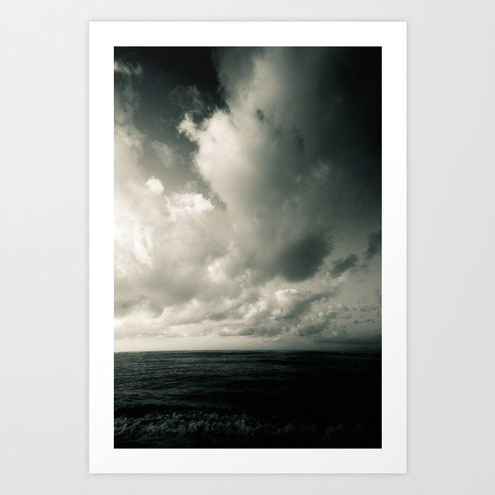 summer ver.greenblack Art Print