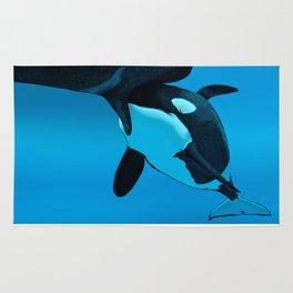 Orca and Calf Rug