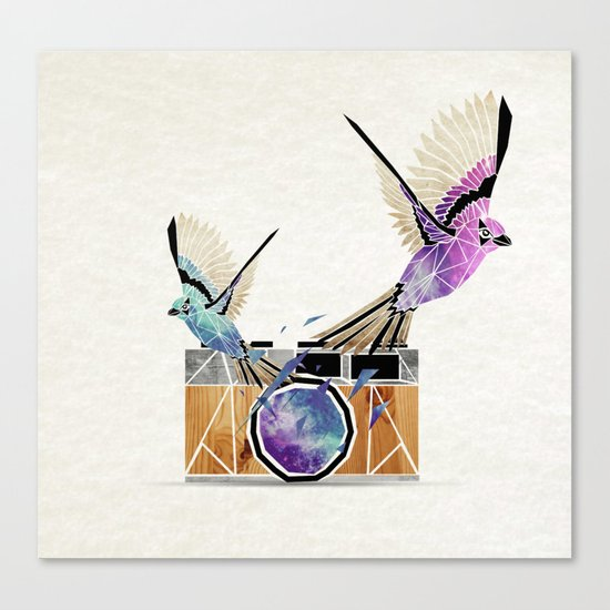 le petit oiseau va sortir! Canvas Print