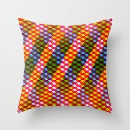 Shifting cubes Throw Pillow