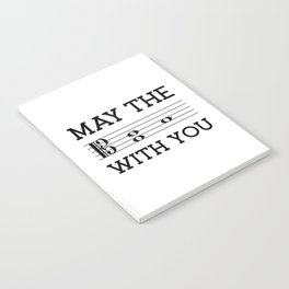 May the 4th be with you (light colors/alto clef) Notebook