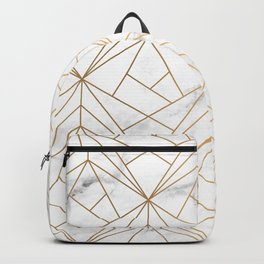 Marble, Geometry and Gold Backpack