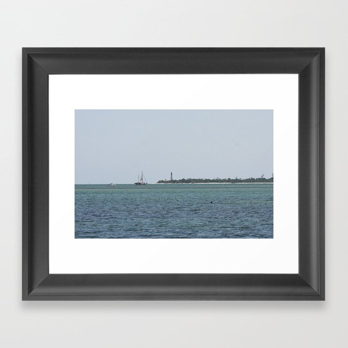 Just another day at the beach  Framed Art Print