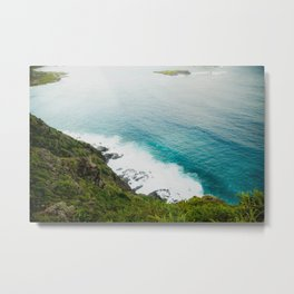Makapuʻu Waves Metal Print