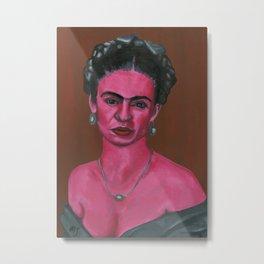 Pink Frida Metal Print
