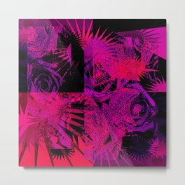 Red & Purple Roses Metal Print