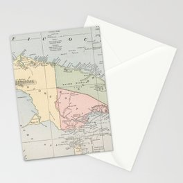 Vintage Map of New Guinea (1901) Stationery Cards