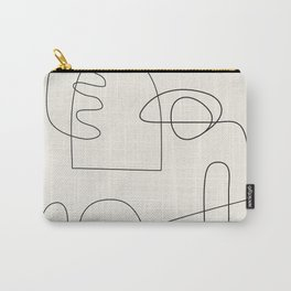 Minimal Abstract Shapes 02 Carry-All Pouch