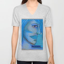 Art #blue Unisex V-Neck