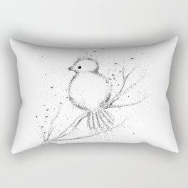 Little Bird Doodle Art Rectangular Pillow
