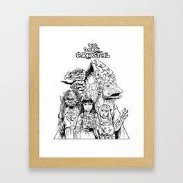 The Dark Crystal - Gelflings, Skeksis, and Mystics Framed Art Print