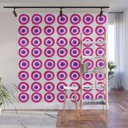 Evil Eye Amulet Talisman in Pink Wall Mural