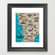 Metro Manila, Philippines Framed Art Print