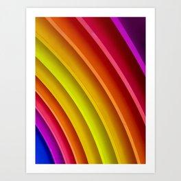 Bright Rainbow Art Print