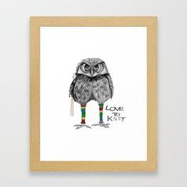 loves to knit Framed Art Print