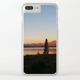 Sunset at Lake Tekapo Clear iPhone Case