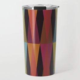 Party Argyle on Chocolate Brown Travel Mug