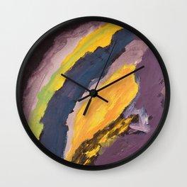 Purple Peace Wall Clock