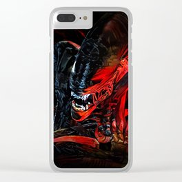 Blood Monster Clear iPhone Case