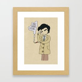 Columbo - Just One More Thing Framed Art Print